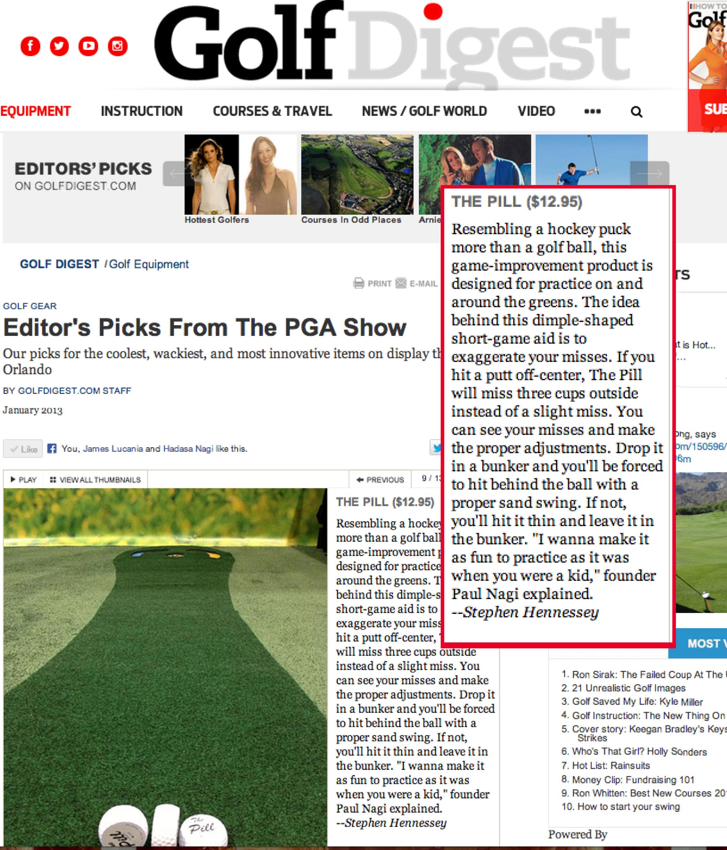 View:  Golf Digest Editors Pick 2013