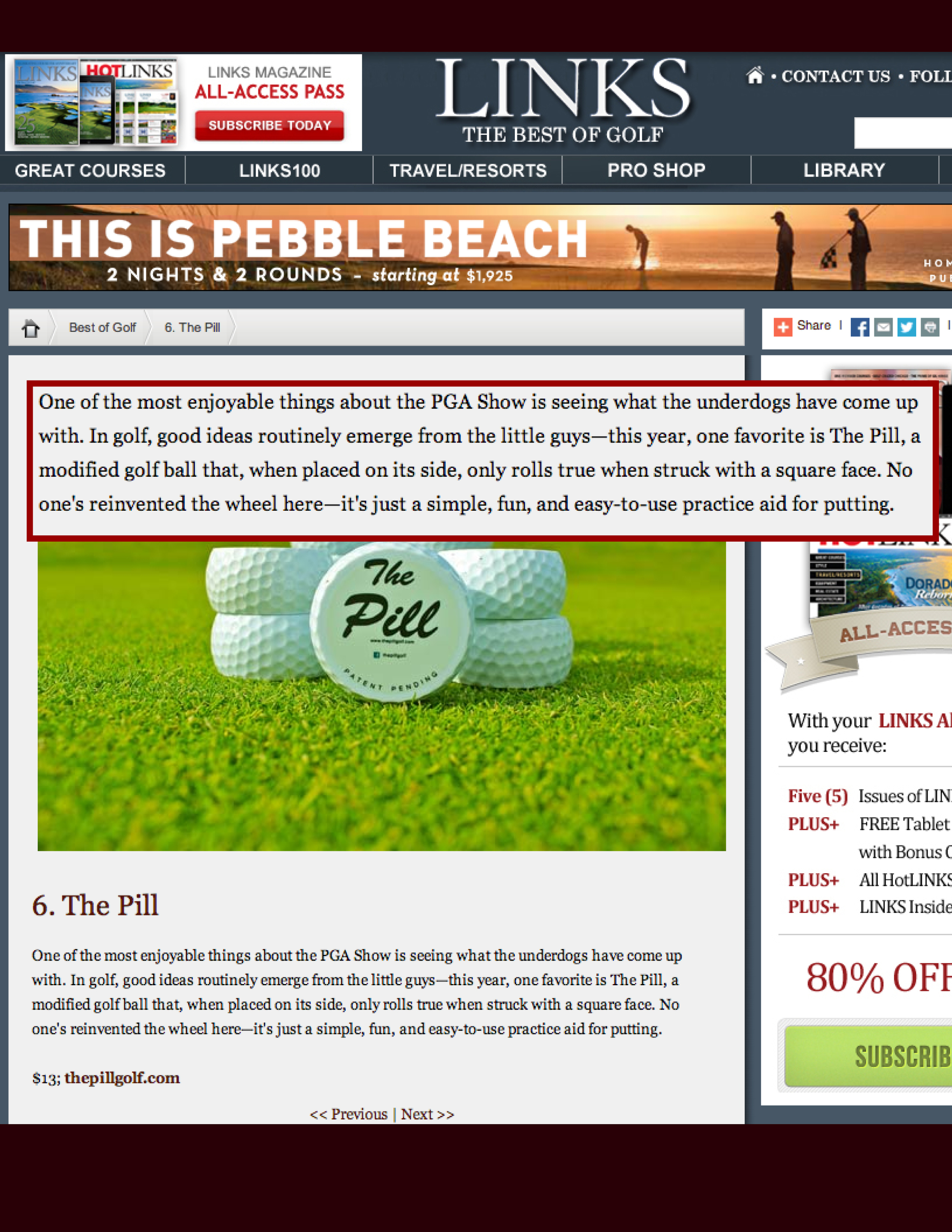 "View:  Links ""Best of Golf"" Review"