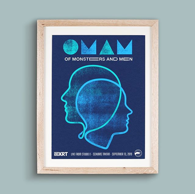 My poster for Of Monsters and Men Chicago XRT show. Three color screen print on navy stock.