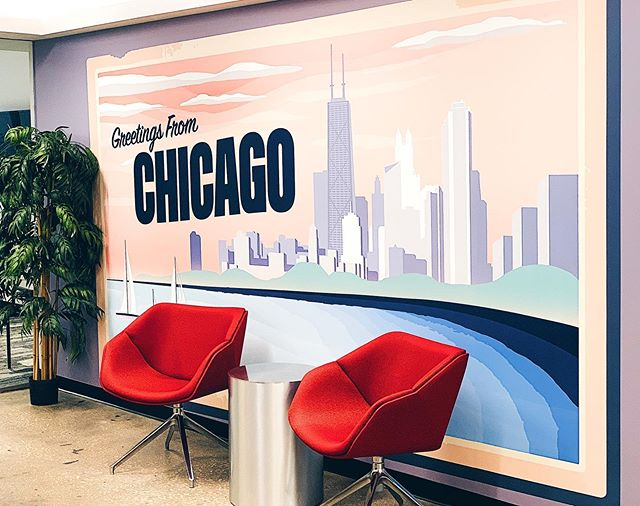 The second mural I designed for our remodeled offices. Had fun with this one. . . .  #illustrator #mural #chicago #artsy #vector #graphic #designinspiration #behance #coverart #instaartist #gfx #insta_chicago #graphicdesign #wacom #illustree #digitalart #slowroastedco #designarf #graphicgang #designspiration #simplycooldesign  #graphicdesigncentral #typetopia #dribbble #artoftheday #illustrationoftheday #architecture #interiordesign