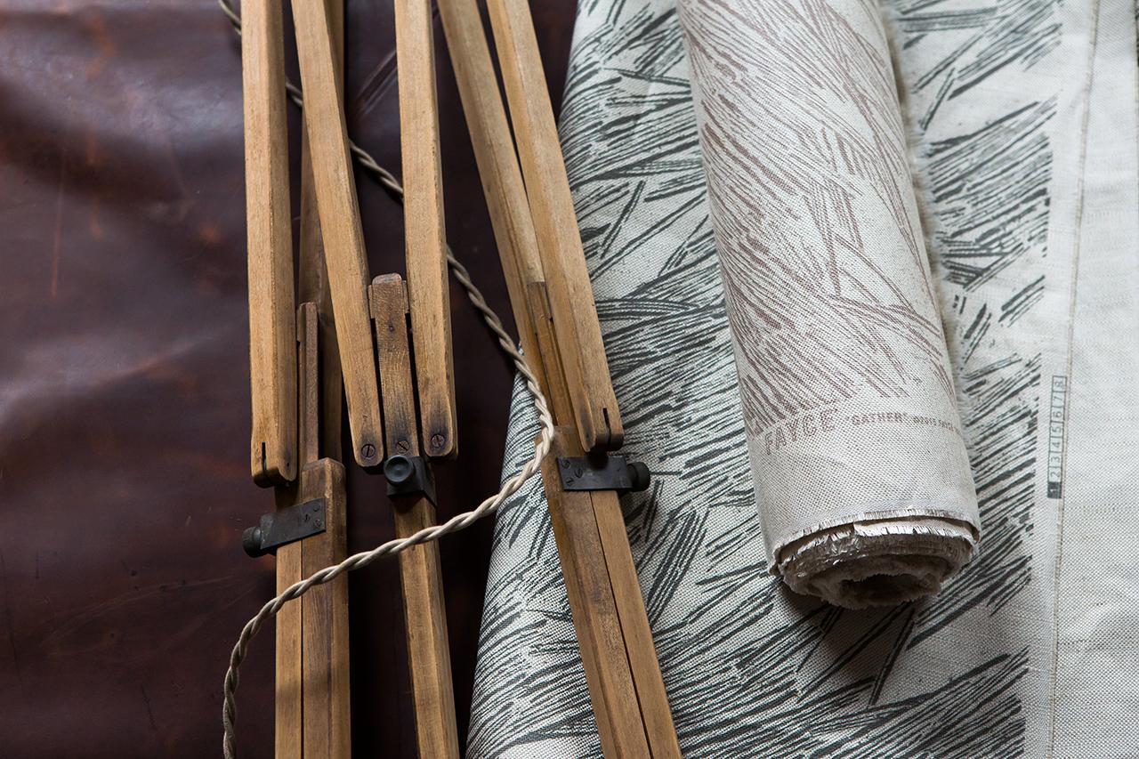 Gather Light Gray Fayce Textiles