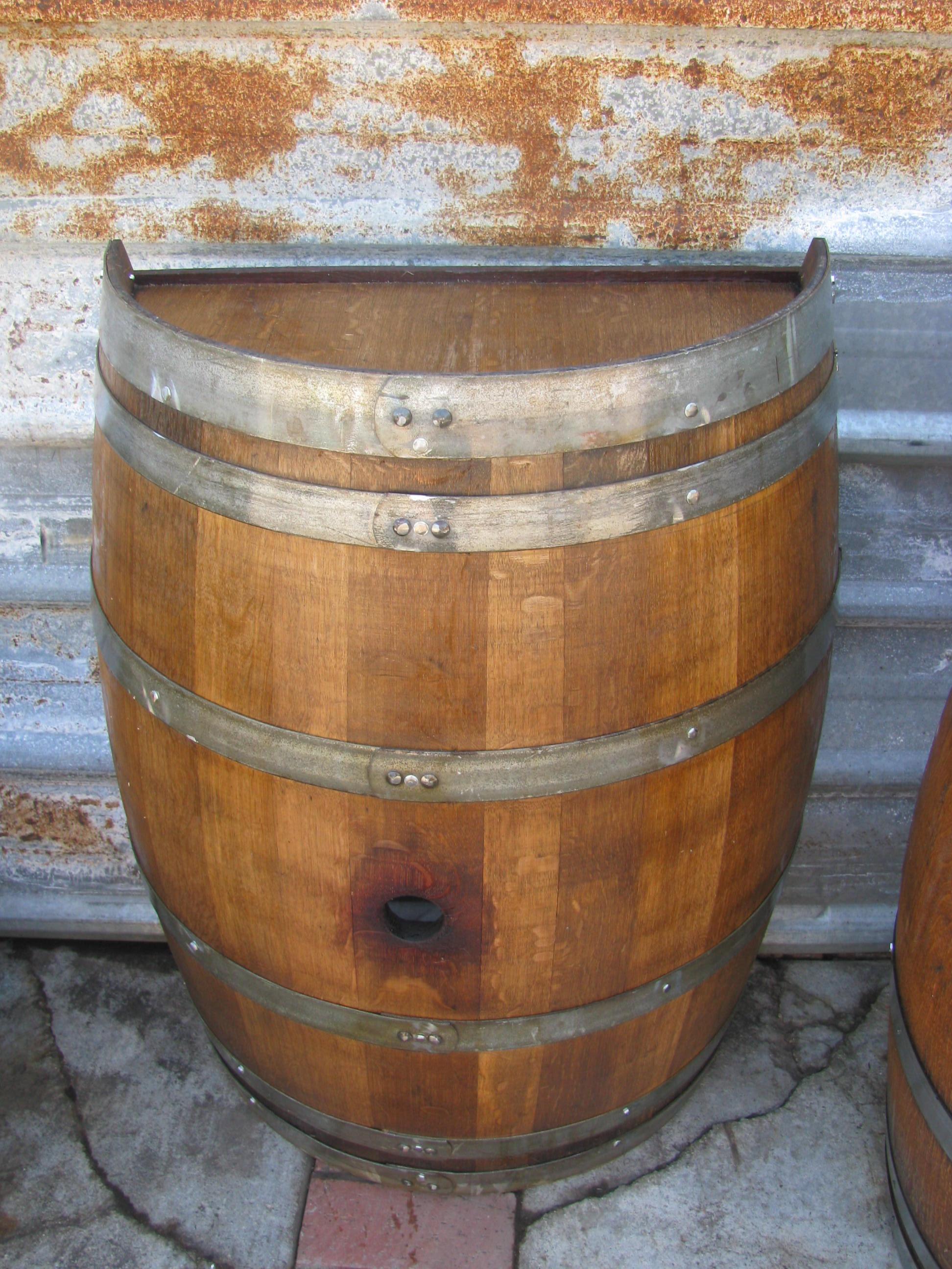Half vertical wine barrel .JPG