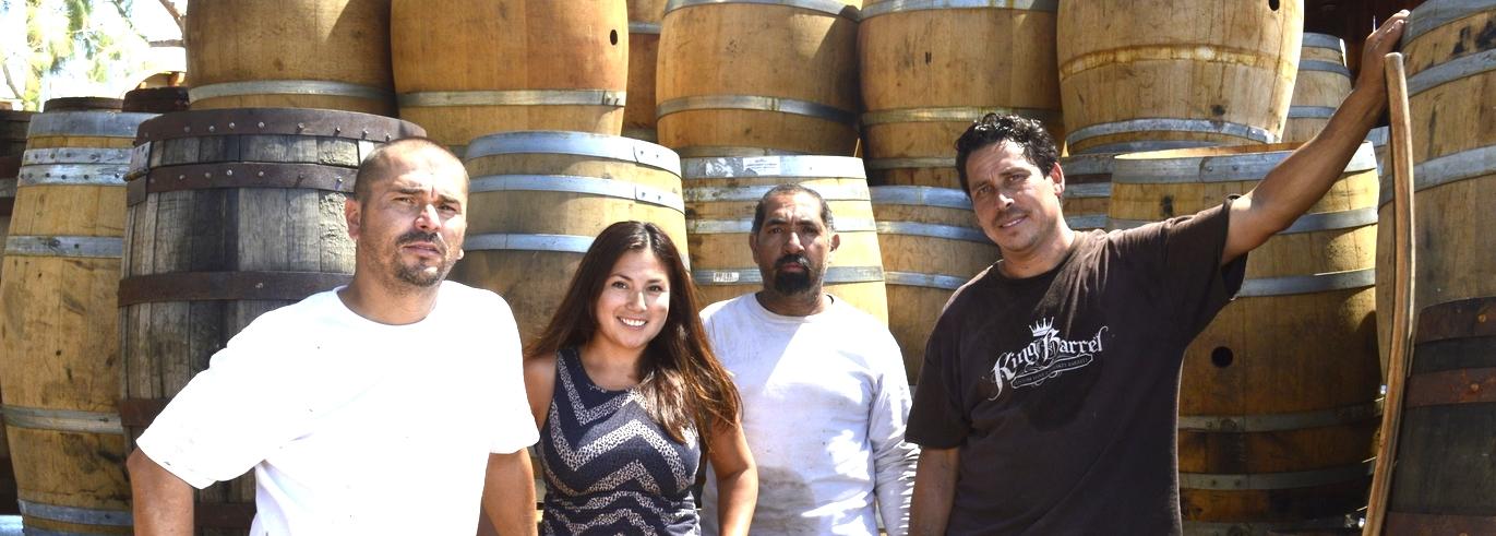 King Barrel Crew from Left to Right: Javier Espinoza, Monique Briseno, Pedro Dejarand Moses Briseno