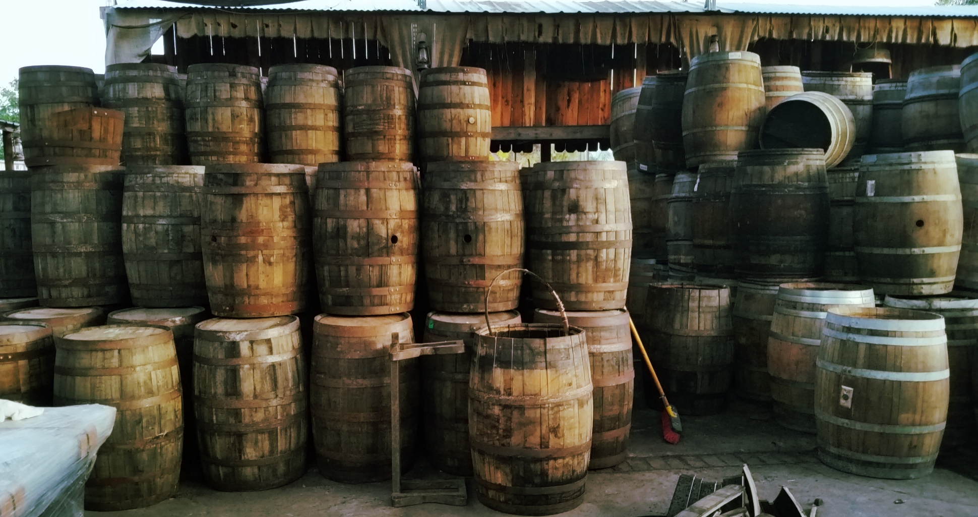 We stock hundreds of wine and whiskey barrels