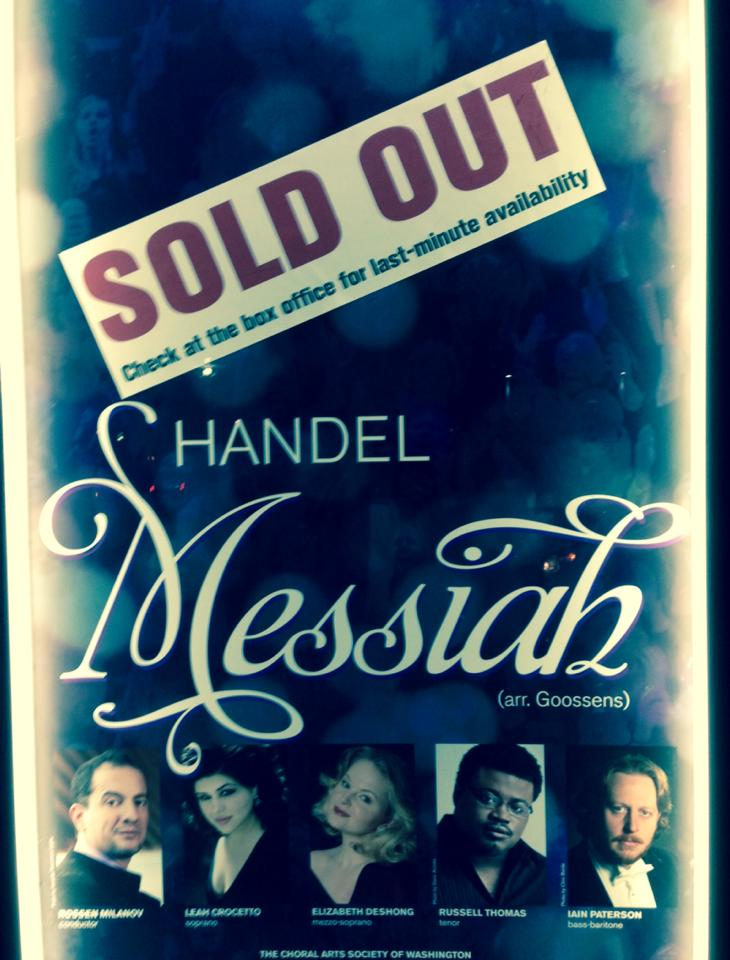 Handel's 'Messiah' Poster with the National Symphony, 2013