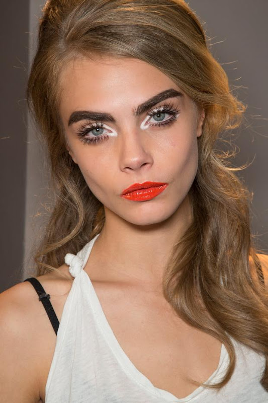 Cara Delavigne for Moschino Spring Summer  '13    Image source: http://www.martasfashiondiary.com/2012/10/fashion-weeks-beauty.html