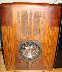 WOW!! Find this one, a 9S30. The top of the line tombstone for 1936. I found this one in an antique store in Woodland California. The dealer just brought it in. I about had a heart attack. What a find, and it had all the original knobs & speaker too! These are supper rare and if you find one it will go for big bucks.