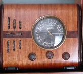 "A favorite of small case radio collectors, a 1938 Zenith model 5S218. Commonly called a ""Cube Radio"". Zenith made a bunch of models in the shape of a square cube. The 5S218 is one of the smallest of the cube models."