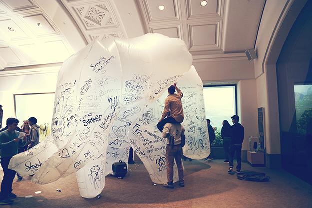 Interactive, Life-Sized, Inflatable Elephant: California Academy of Science Nightlife