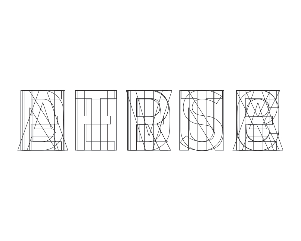 Combining all letters from each word in the phrase in an attempt to create an image that stands in place of text