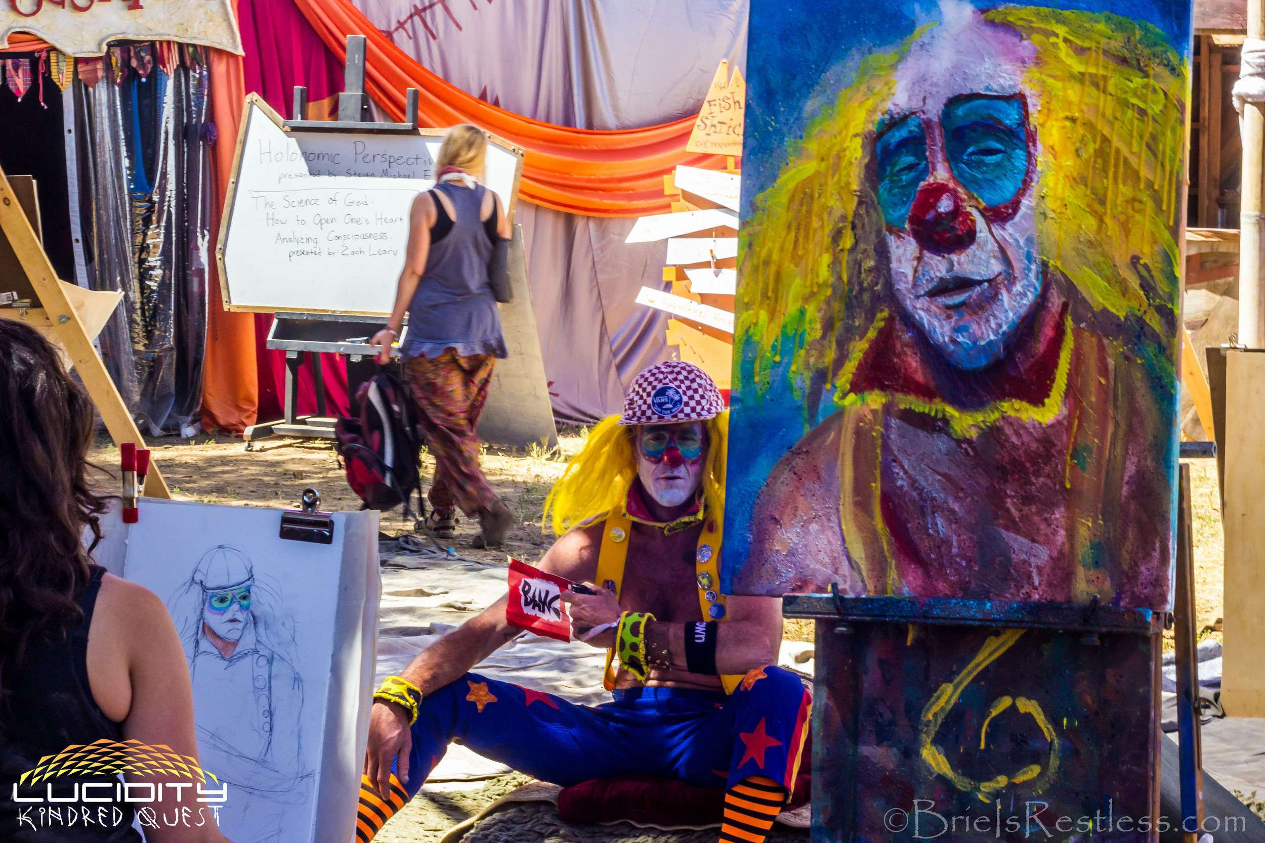 Art Temple - Live Clown Drawing - Painting - Luciditiy - Kindred Quest - April 2015 (1 of 1) (1 of 1).jpg