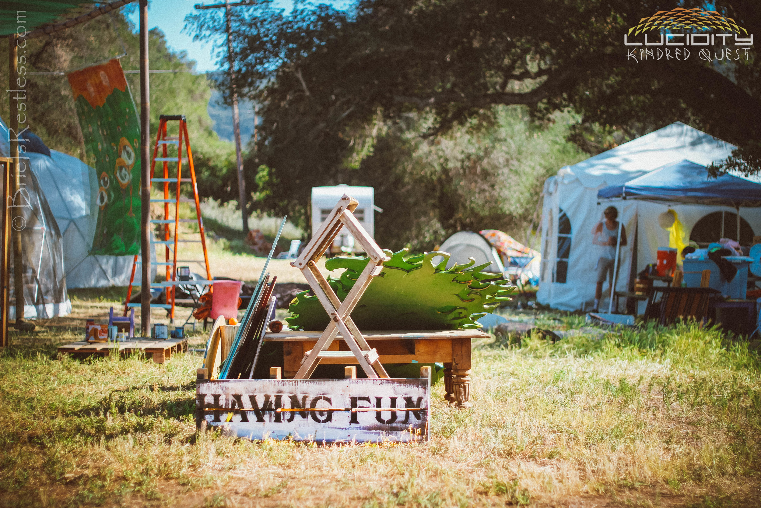 Family Garden - Having Fun Sign - Luciditiy - Kindred Quest - Build - April 2015 (1 of 1)-1.JPG