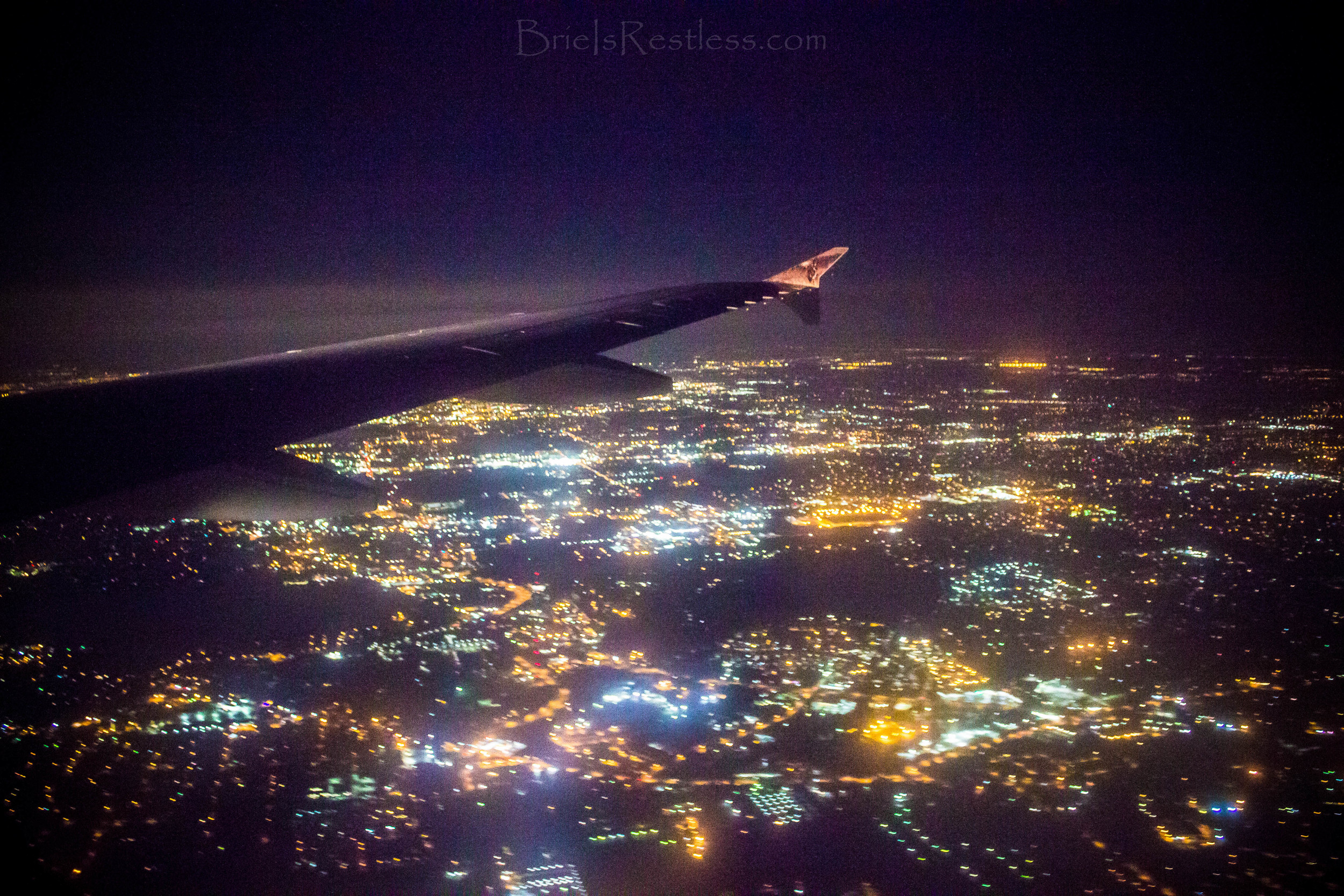 Orlando Florida - Frontier FLight - Red Eye - City Lights Outdoors - Plane Wing - June 2015 (1 of 1).jpg