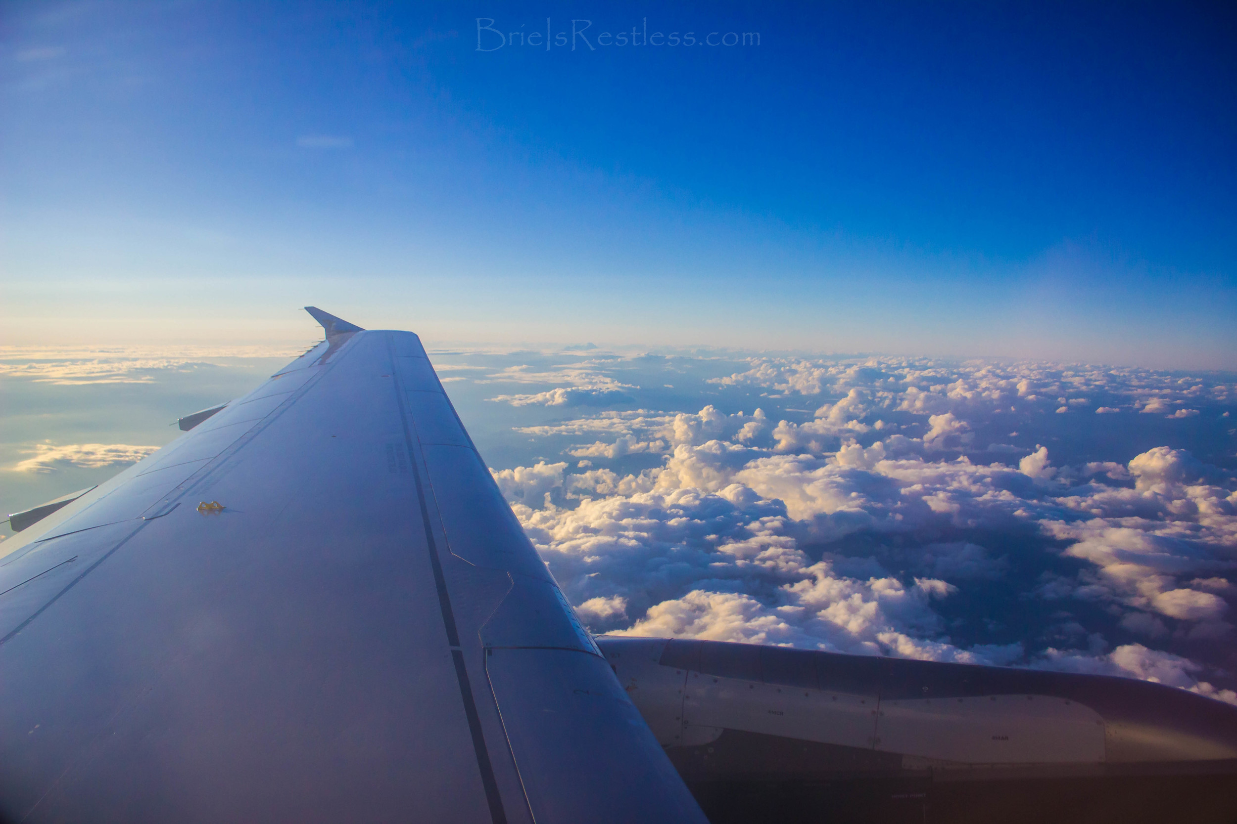 Traveling to Orlando - Red Eye - Plane Wing - CloudPorn - Frontier - June 2015 (1 of 1).jpg