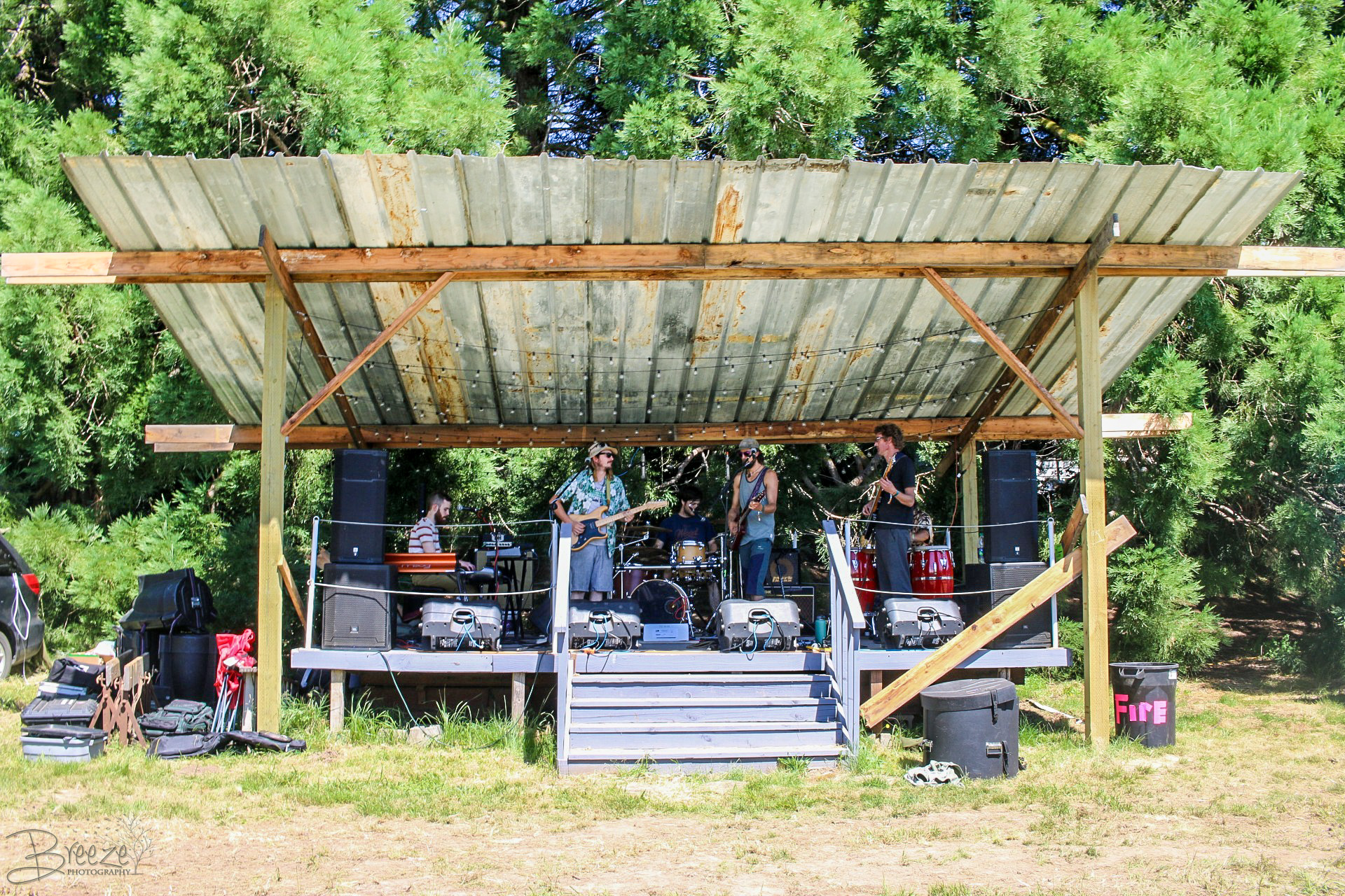 The High Council Band - Playing a set at Quiet Camp