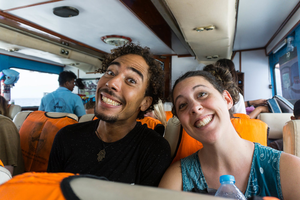Stefan and I captured on the boat to Koh Lanta in Thailand - February 2017    Photo Credit || Lily Douglas