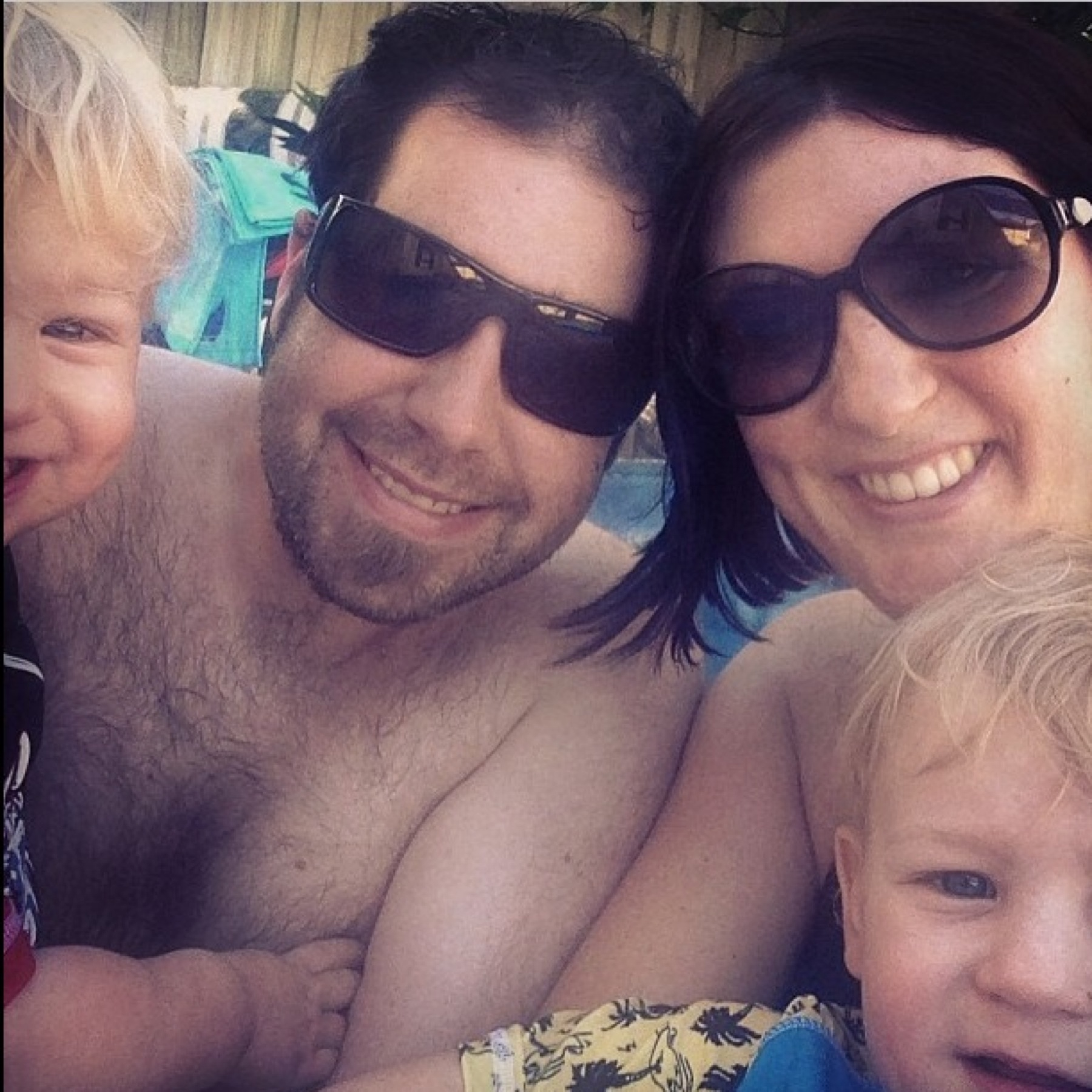 Family pool time a couple of months ago.