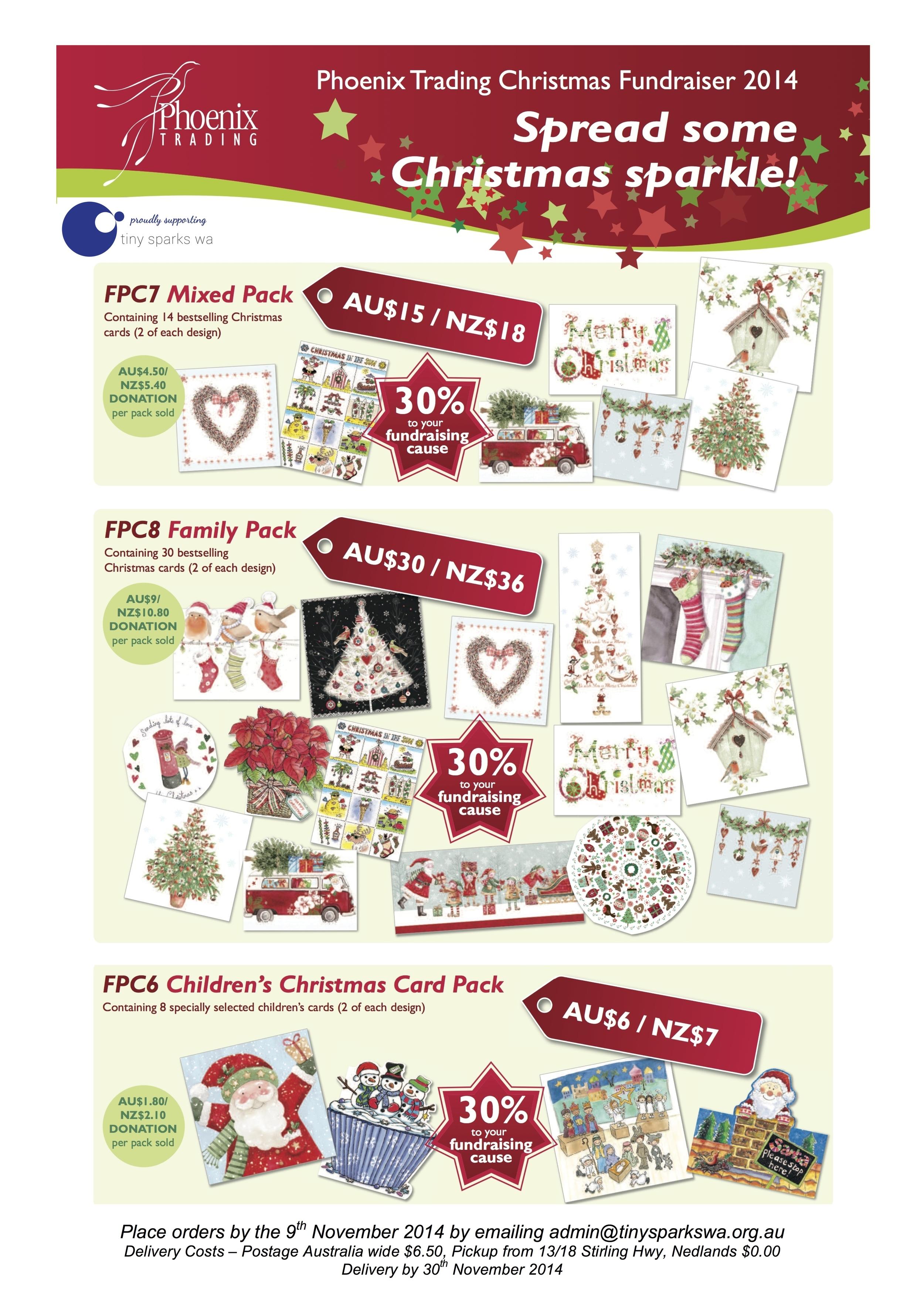 Christmas Fundraiser Flyer.Christmas Cards 2014 Fundraiser Tiny Sparks Wa