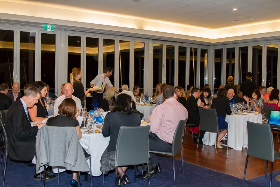 Guests enjoying the degustation menu