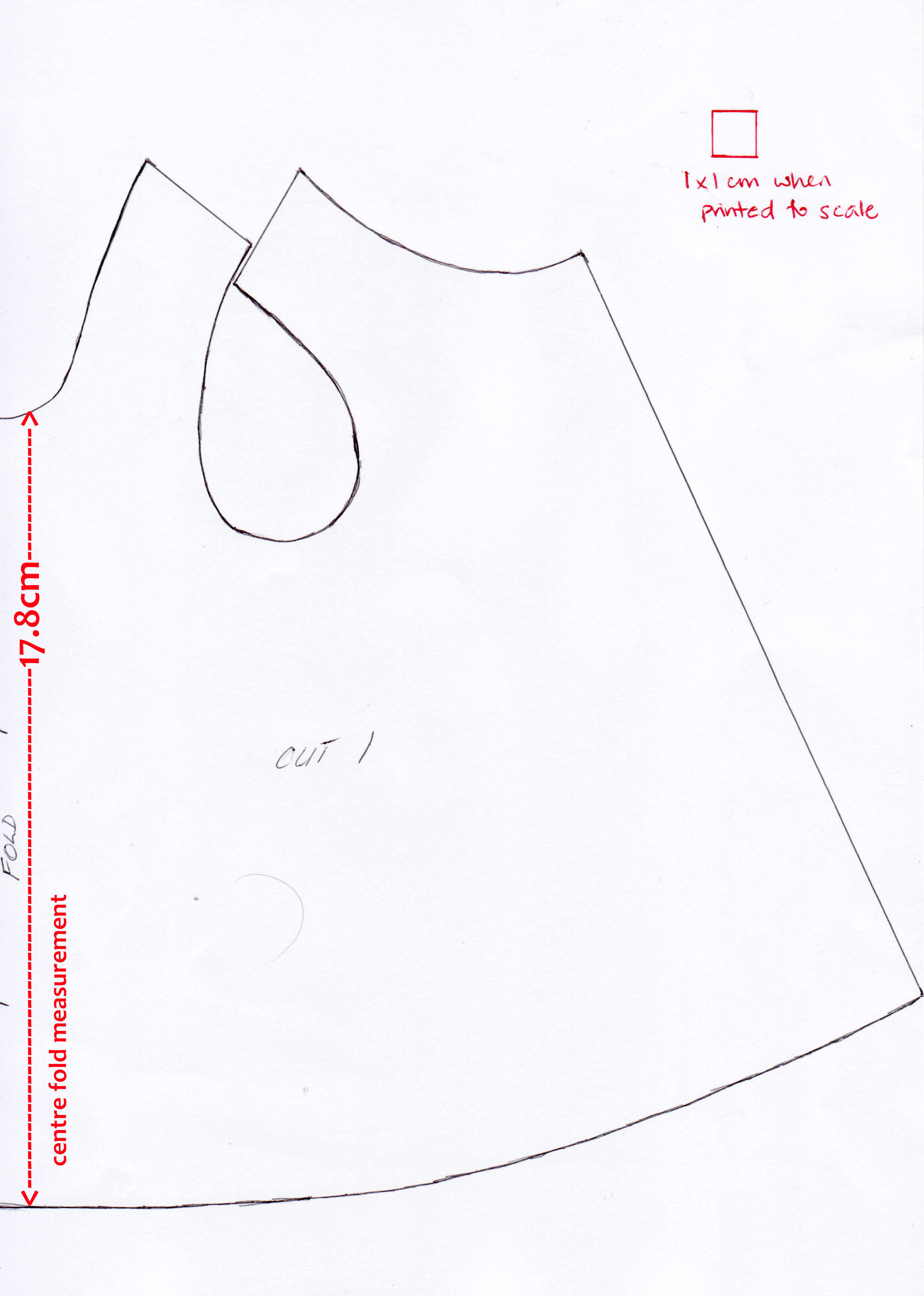 Girls 1.6kg gown with measurements.