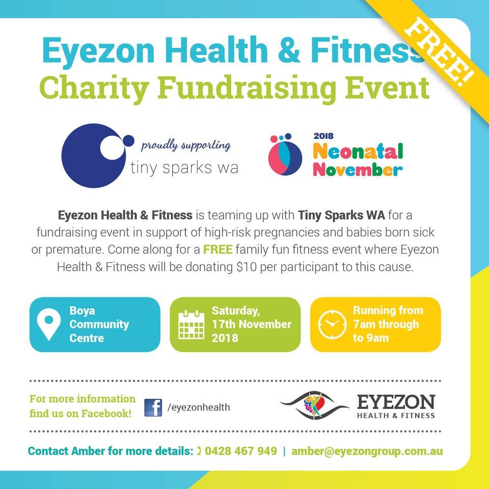 Eyezon Health & Fitness - Hosting back to back fitness classes on 17/11 at Boya Community Centre with $10 from every participant donated to.