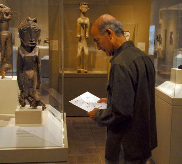 Man Touring Cantor Art Center