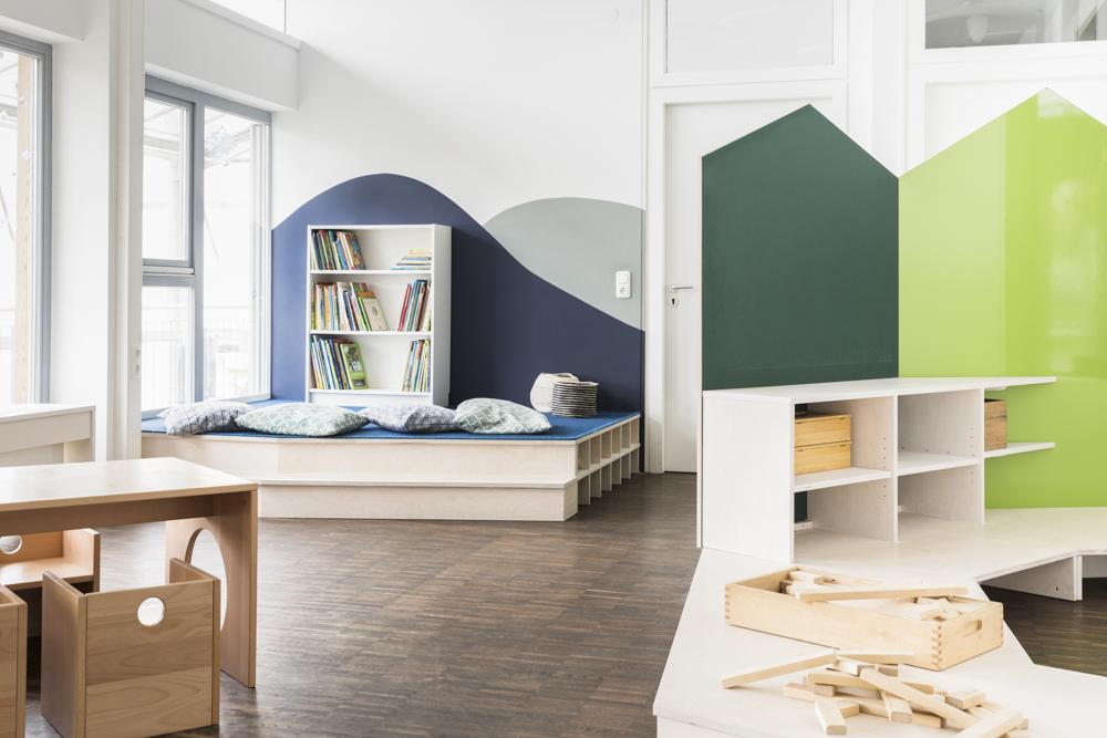 Ob Lesen, Bauen oder Malen - Das Raumangebot bietet viele Möglichkeiten.