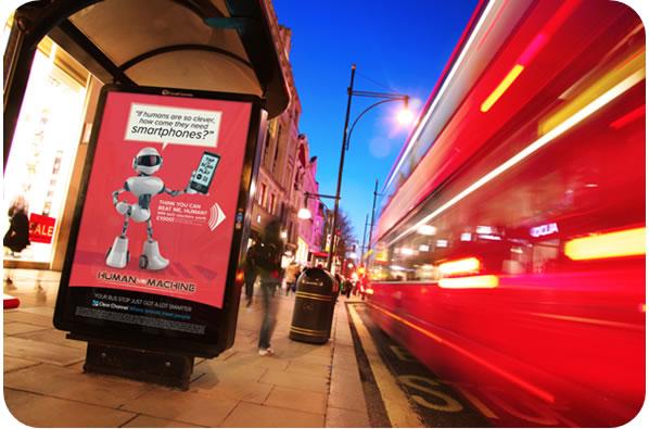 Making UK Bus Stop Advertising Interactive
