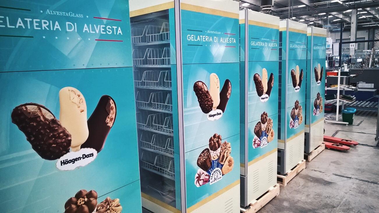 Newly delivered deep freezers for Alvestaglass.