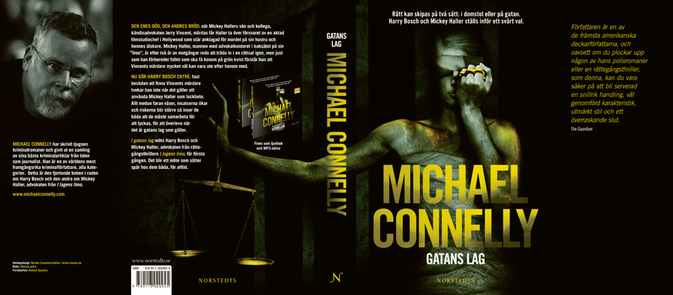 Michael Connelly's The Brass Verdict, Swedish translation.