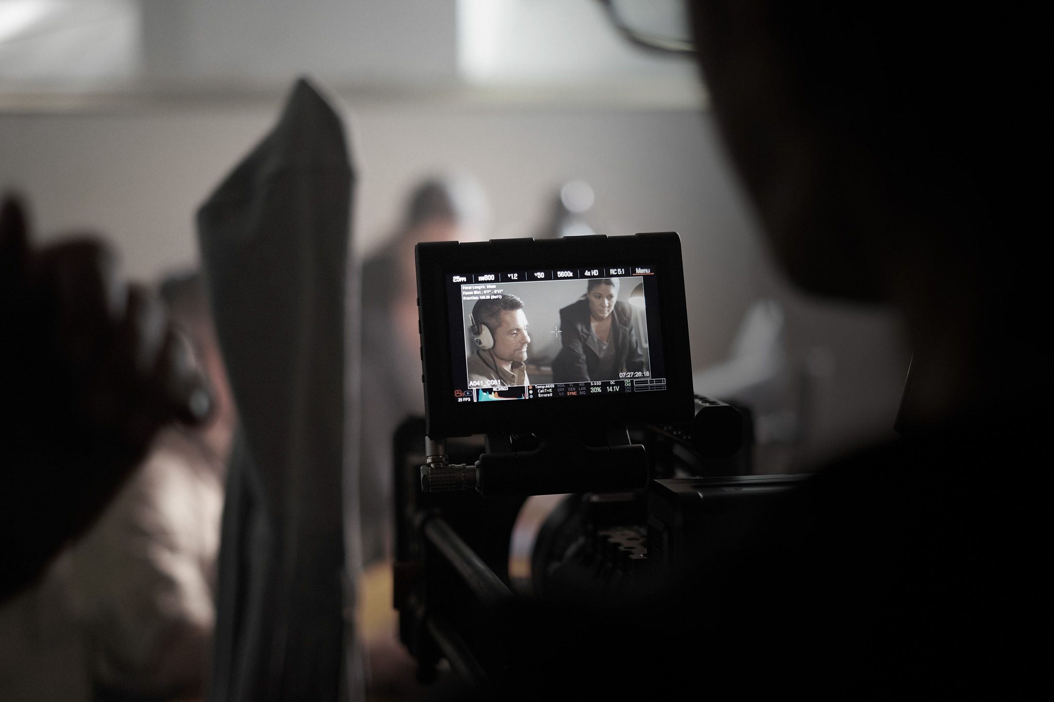 On location. Signalskydd movie shoot. In cooperation with  Oddway .