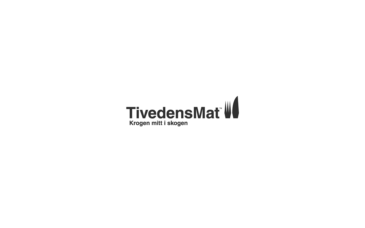 Logo design for Tivedens Mat, a restaurant in the middle of nowhere.