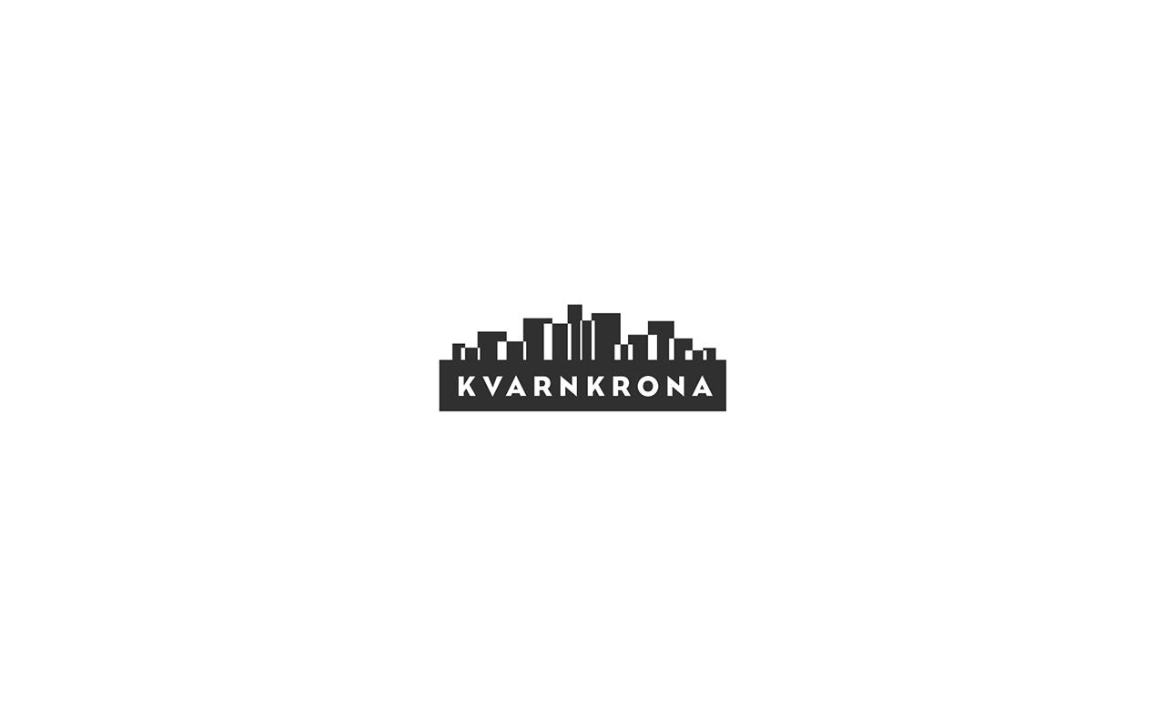 Logo design for the real-estate concern Kvarnkrona.