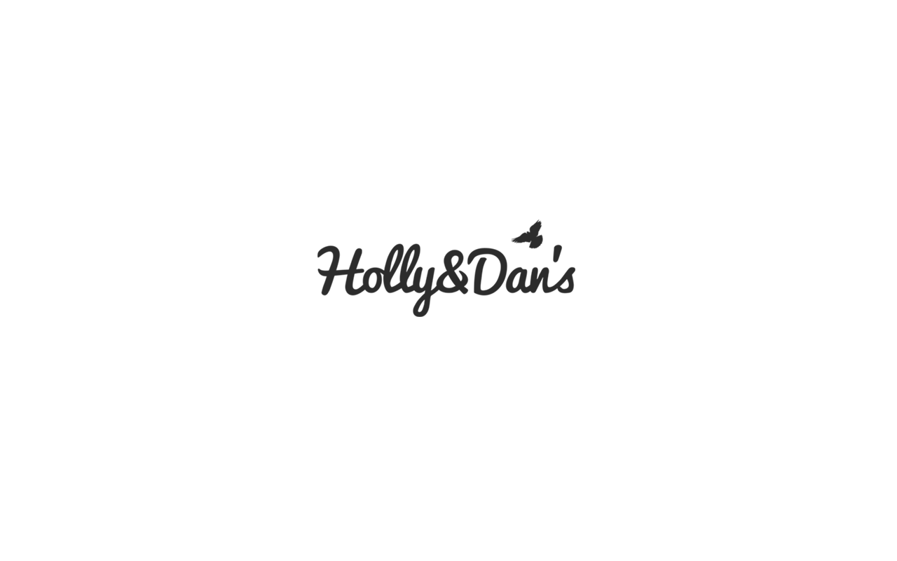 "Logo design for Alvestaglass sub brand ""Holly & Dan's""."