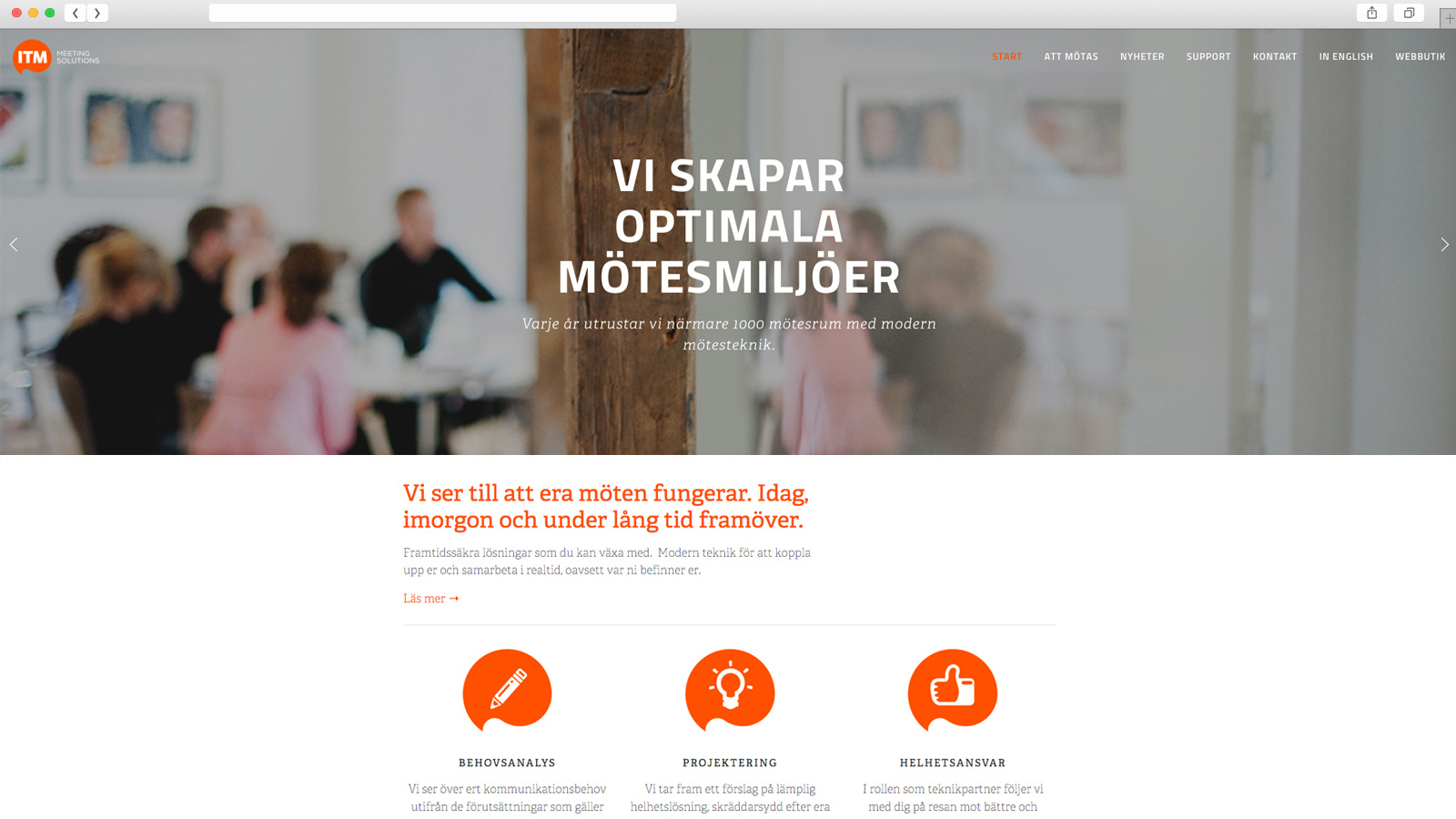 ITM Meeting Solutions,  website  design and development.