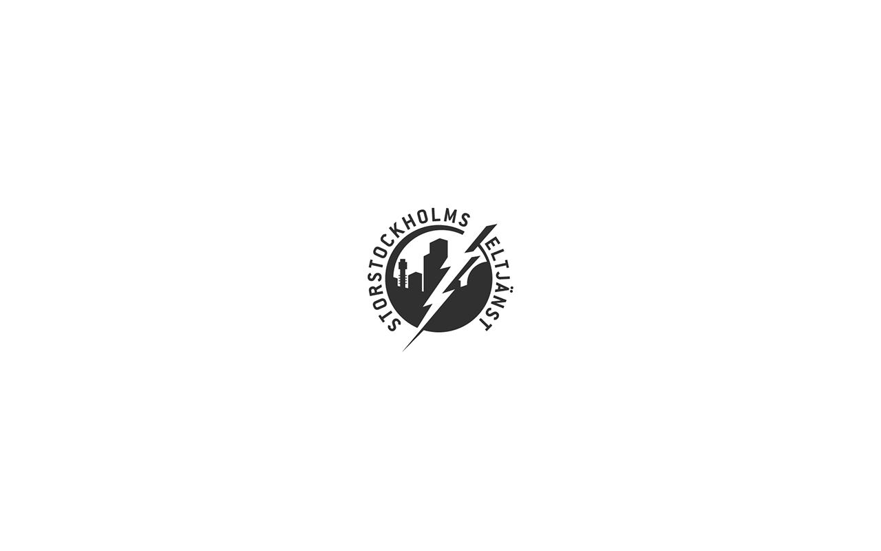 Logo design, Stockholms Eltjänst.