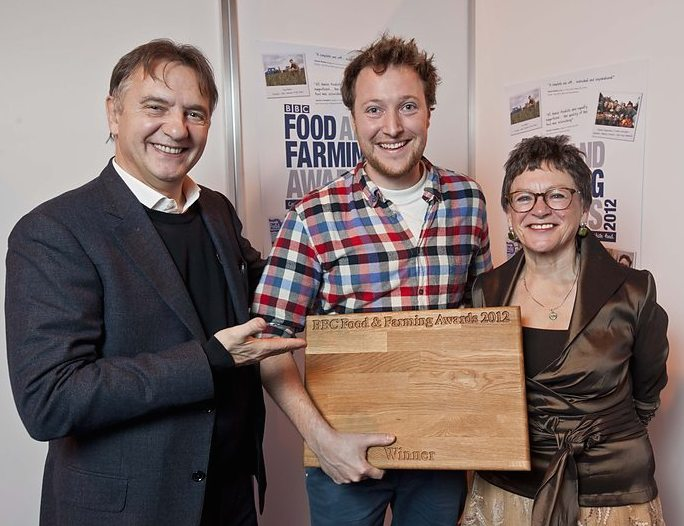 Raymond Blanc (judge), me (with award) and Radio 4's Sheila Dillon