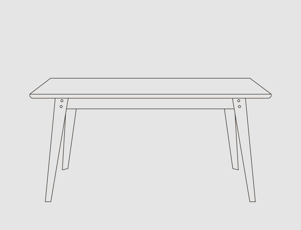 Esstisch / Schreibtisch -
