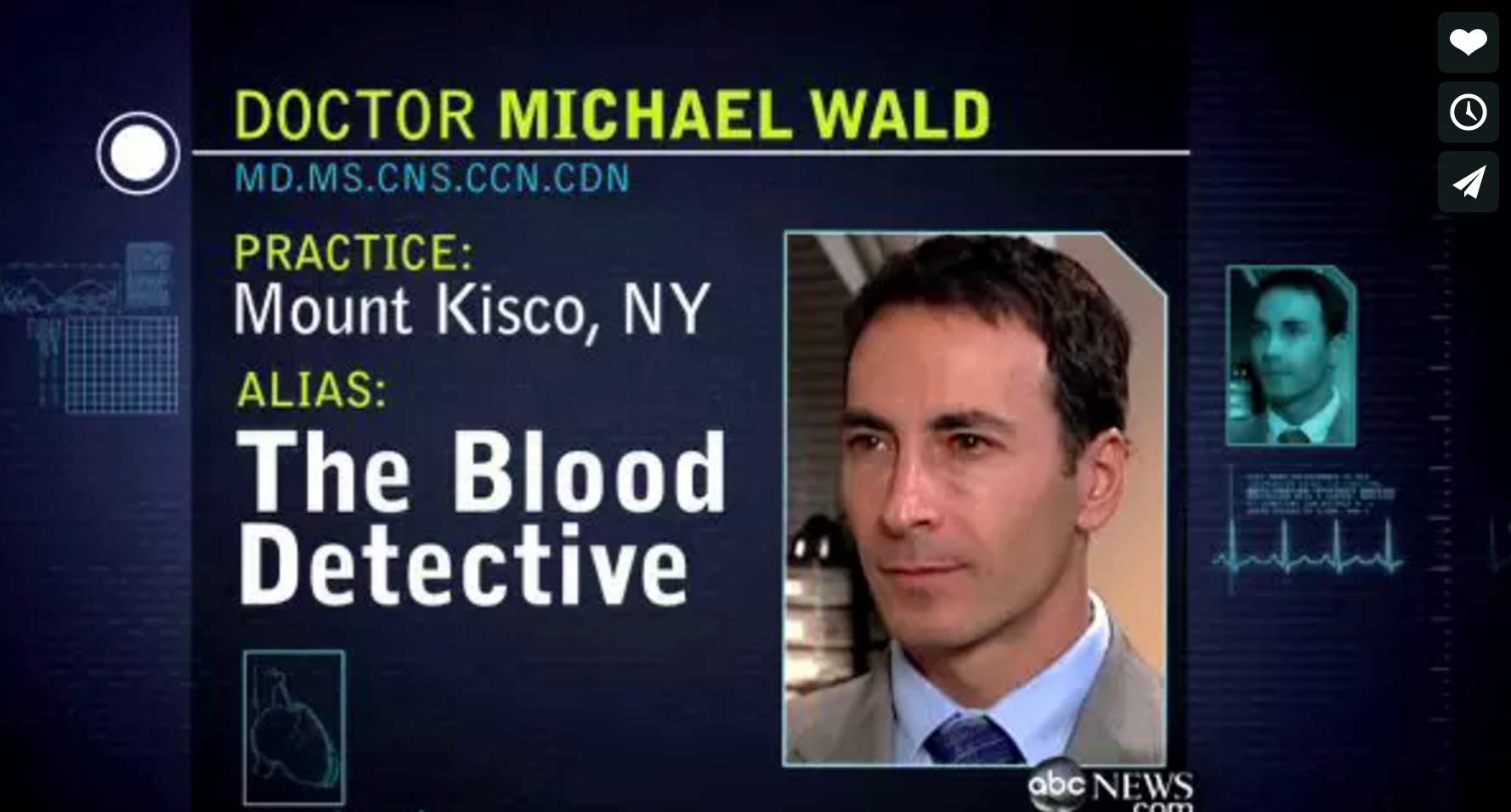 Dr. Michael Wald, Blood Detective