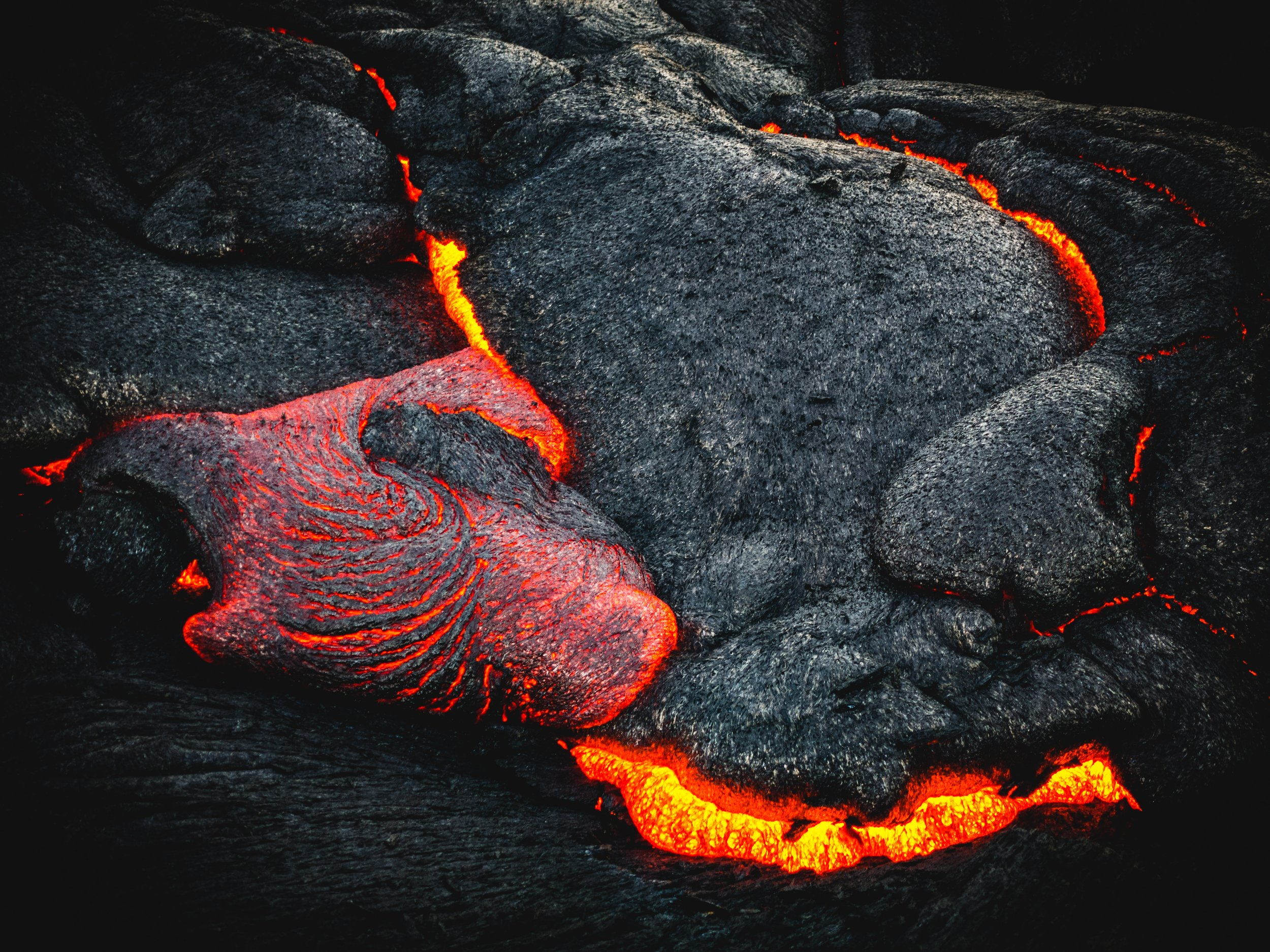 Photo of lava displaying earth heavy metals.