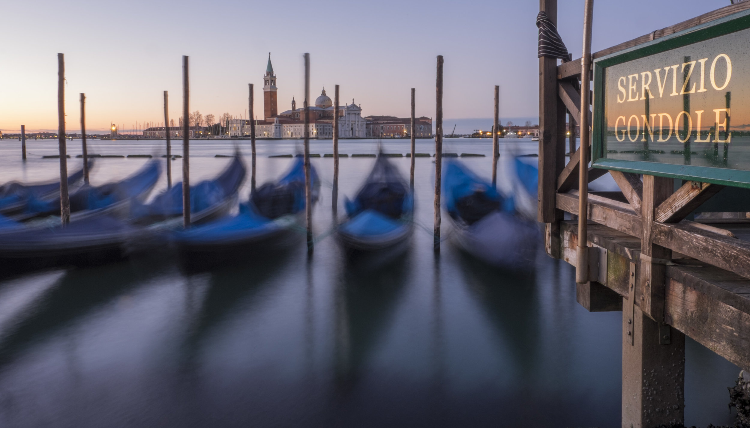 Early morning and sunrise in Venice