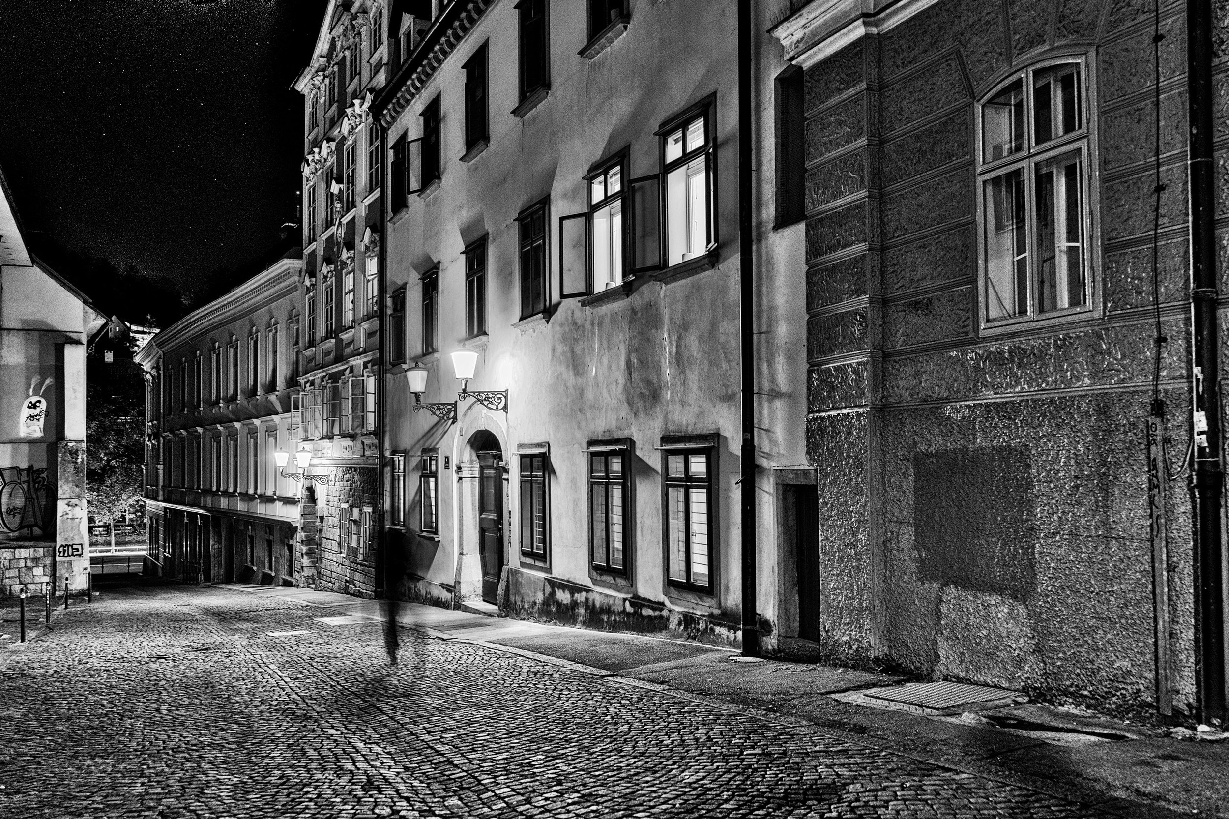 Ljubljana Black and White Photography