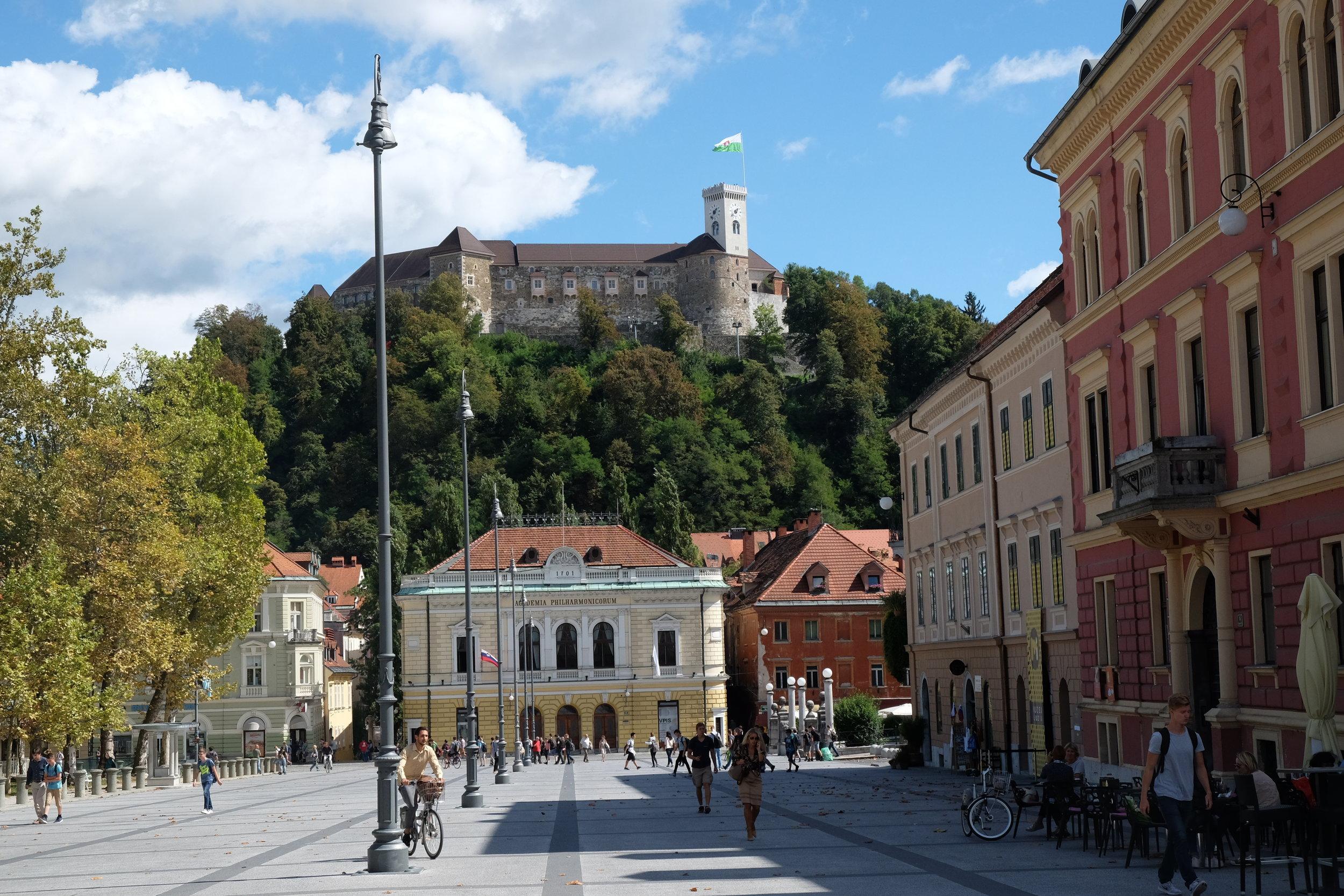 Ljubljana Castle and Congree Square