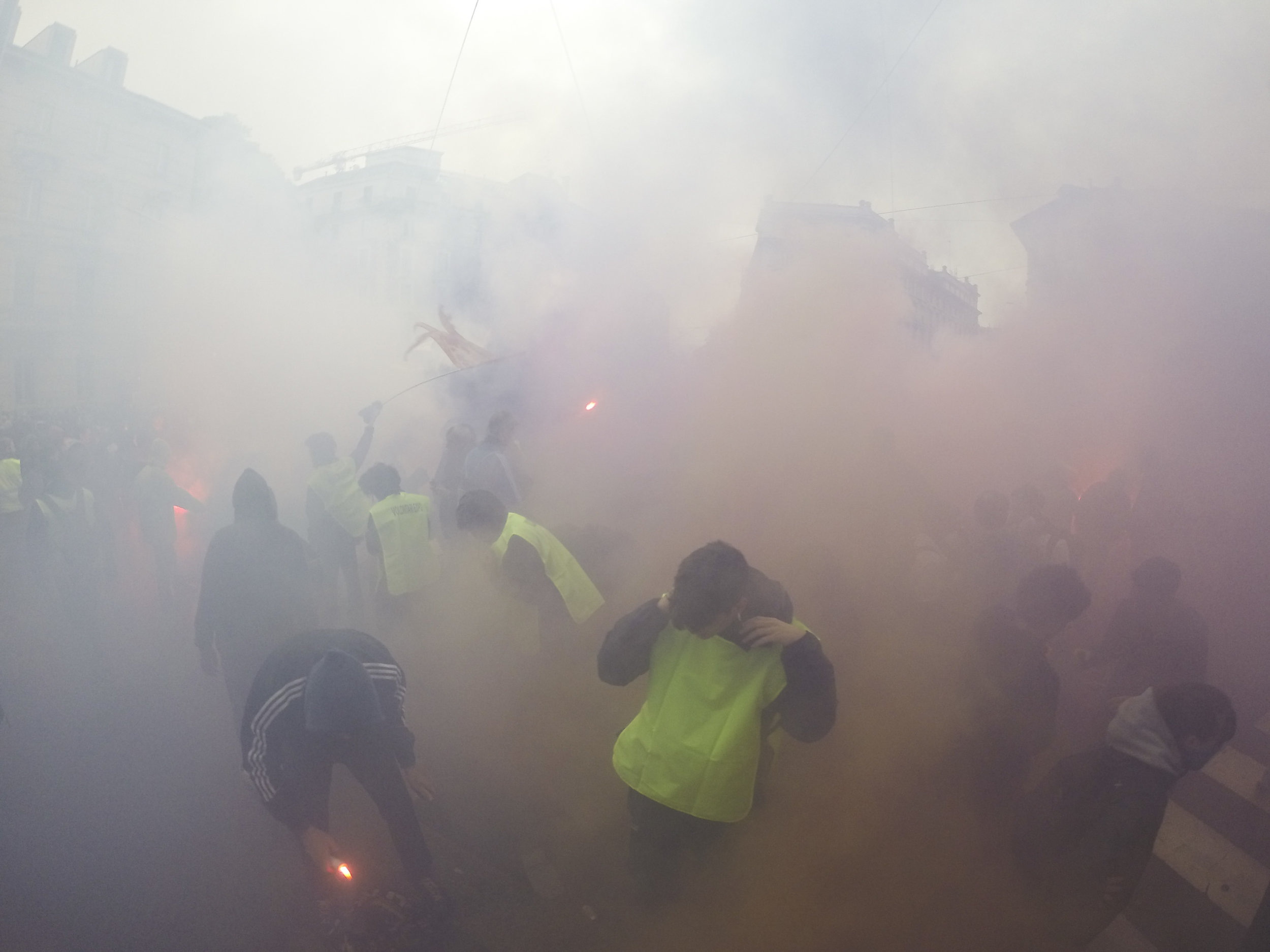 Violence overshadows a pacific No Expo march attended by 30,000 people  in Milan  as police and protesters clash