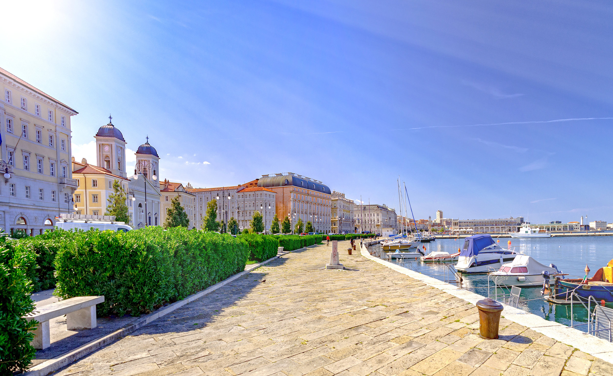 Trieste Italy by Adriatic sea