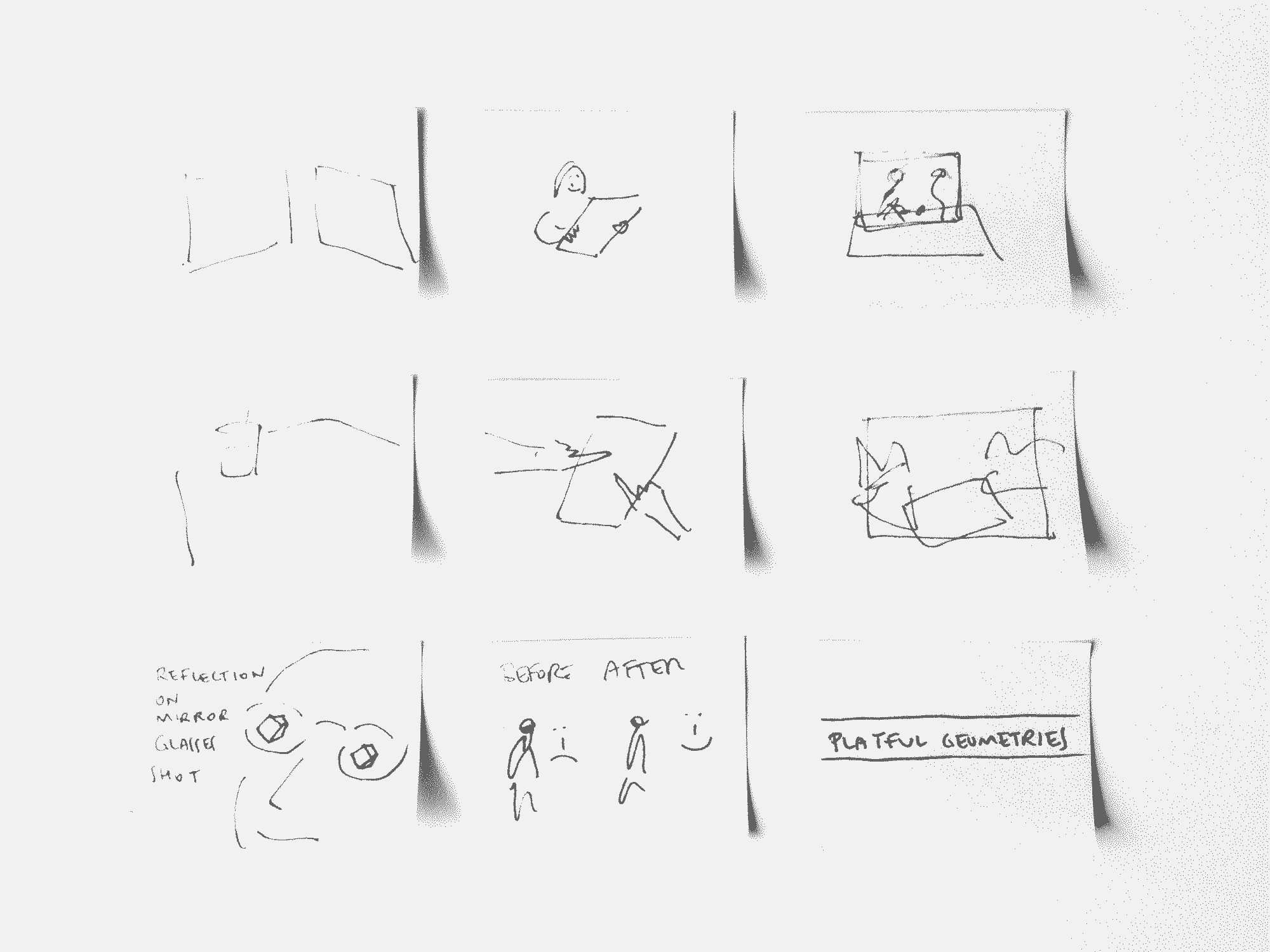 storyboard for the presentation video