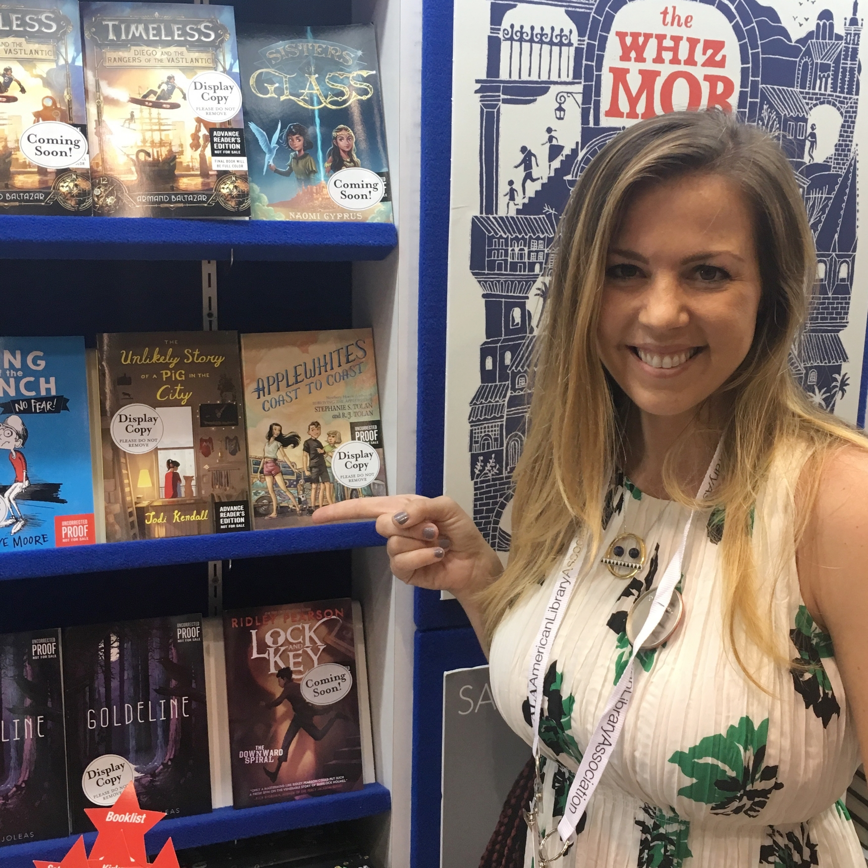 The Unlikely Story of a Pig in the City  advance reader's copy (ARC) on display at the HarperCollins Children's Books booth at ALA Annual Convention 2017. Final hardback version publishes on October 3, 2017