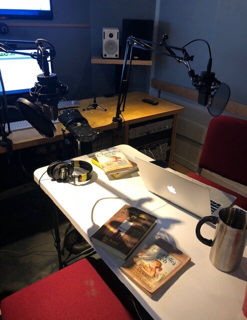 "Recording the ""Remember Reading?"" podcast episode 1  Charlotte's Web  at HarperCollins Publishers Studios"