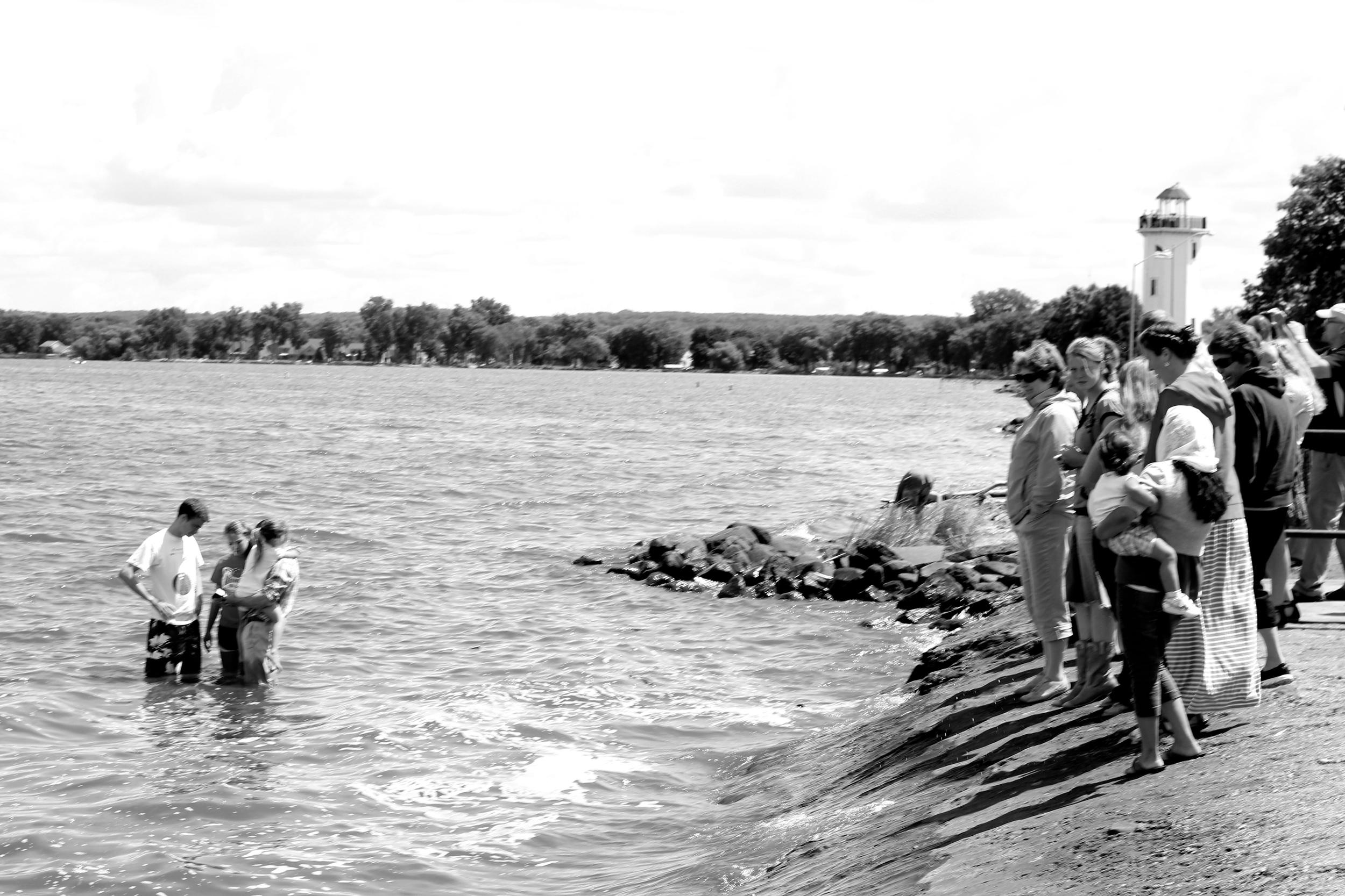 Baptism in Lake Winnebago