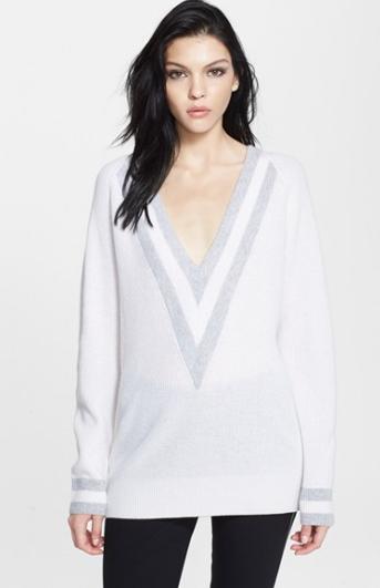 Rag & Bone Talia V-Neck Sweater in Cashmere, $495